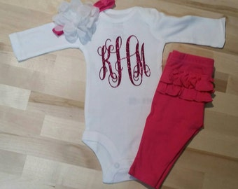 Glittered Monogram Outfit