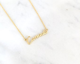 Canada Necklace/Polish Necklace/Perfect for any occasion