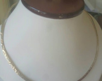 Hammered Sterling silver Choker Necklace at Clearance Prices