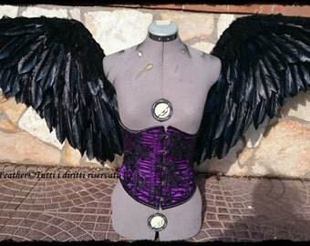 Realistic Feathers Wings for Corset. 3 SIZE: Small,Medium,Large.  ON ORDER