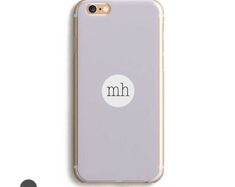 Pastel Iphone 6 Case, Lavender Phone Case, Monogram Iphone 5 Case, Custom Iphone 6s Case, Personalized Iphone 5s Case, 5/5se/5s/6/6s/6s plus