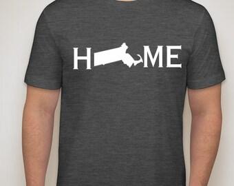 Massachusetts home t shirt, Massachusetts shirt
