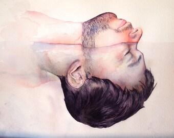 Half Baptism - Original Watercolor