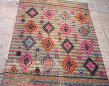 Unique Kilim Rug 8x10 Related Items Etsy
