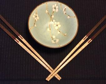Maple and Walnut Chop Sticks