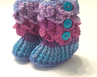 Crocodile Stitch Booties - Baby