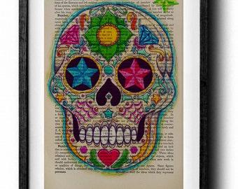 Candy Color Sugar Skull Art