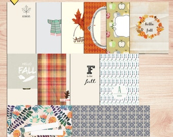 SUMMER SALE - Hello Fall Journal Cards - Instant Download - Printable journaling cards for Project Life and digital scrapbooking