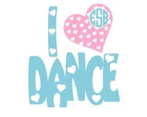 """I """"Heart"""" Dance Set SVG, Studio 3, DXF, AI, ps and pdf Cutting Files for Electronic Cutting Machines"""