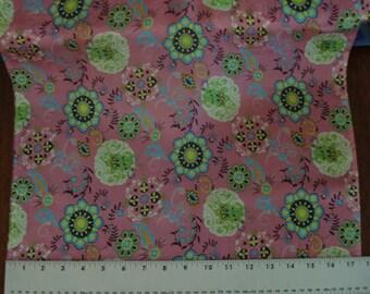 Habotai Prints - Pinwheel on Pink