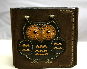 "Wallet from genuine leather ""Owl"""