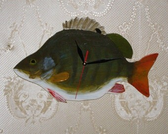 Perch Fish - fish wall clock