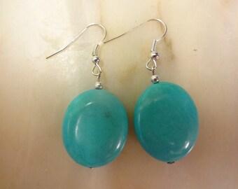 Howlite Turquoise Drop Dangle Earrings