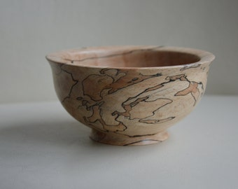 Spalted Beech wooden Bowl with Wax Finish