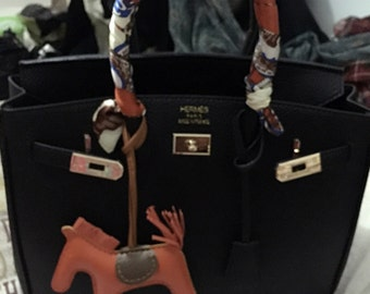 hand sewing real leather bag charm handbag tote bag accessories horse bag bugs charm