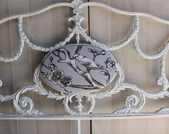 French Provincial FULL Headboard SHABBY CHIC