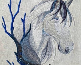Wintery Horse Quilt Panel