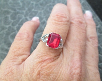 Vintage RUBY Ring, sizes 6 thru 8 available, never worn