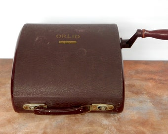 A Vintage Retro Orlid Mechanical Printer, Made in Germany, Film prop, Shop Display, stationary
