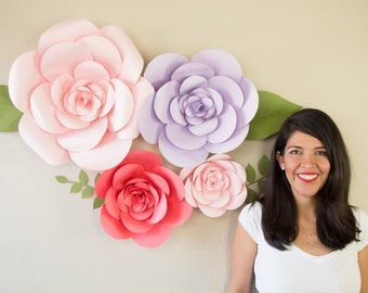 Giant Paper Flower - Firenze Style (PATTERNS + VIDEO TUTORIALS) pdf and svg files
