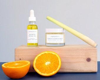 Hopscotch Refresh Gesichtsbehandlung Öl — Zitronengras und süße Orange Gesichts Öl — ölige/Mischhaut — natürliche Hautpflege, hergestellt in Großbritannien