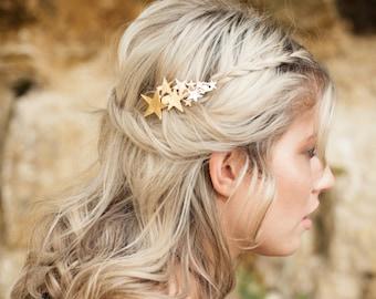 Star Hair Clip, Gold Hair Barrette, Boho Accessory, Boho Hair Accessory, Gold Hair Clip, Boho Barrette, Bohemian Hair Clip, Goddess Hair