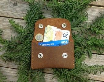 Manmade - personalisierte Geldbörse Kartenetui - Lederwallet