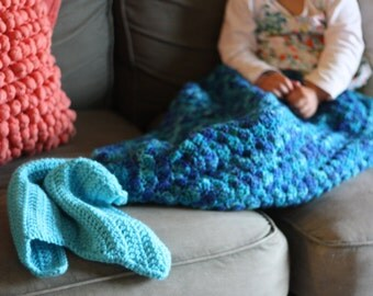 Childrens mermaid blanket