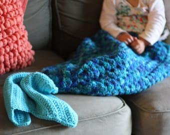 Childrens mermaid blanket