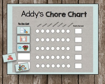 50% OFF SALE Picture Chore Chart - Toddler - Kids - CUSTOMIZE - Routine - Cards - Printable - Instant Download
