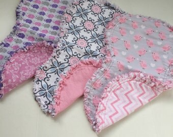 Burp Cloths - Pink Collection