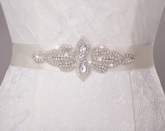 bridal sash rhinestone wedding dress Crystal wedding belt