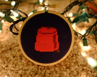 Dr Who Fez Cross Stitch - Completed