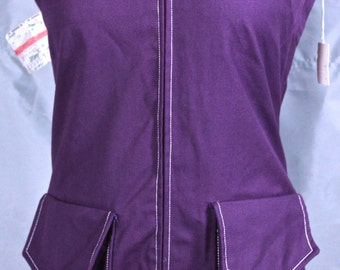 Ellen Tracy Purple Jumper Romper 1960's 1970's