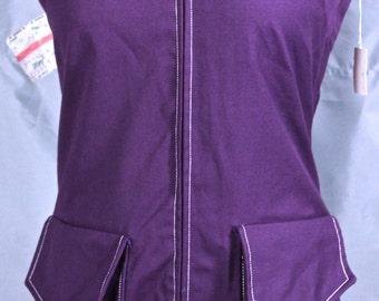Ellen Tracy Purple Jumper Romper 1960's 1970's