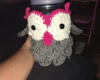 Owl cup cozy