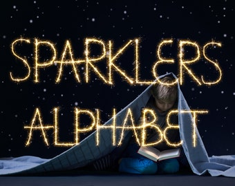 83 Sparklers Alphabet PhotoOverlays, Wedding overlays, sparkler overlays, wedding sparkler, photoshop overlays