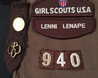 Vintage GIRL SCOUTS USA Sash