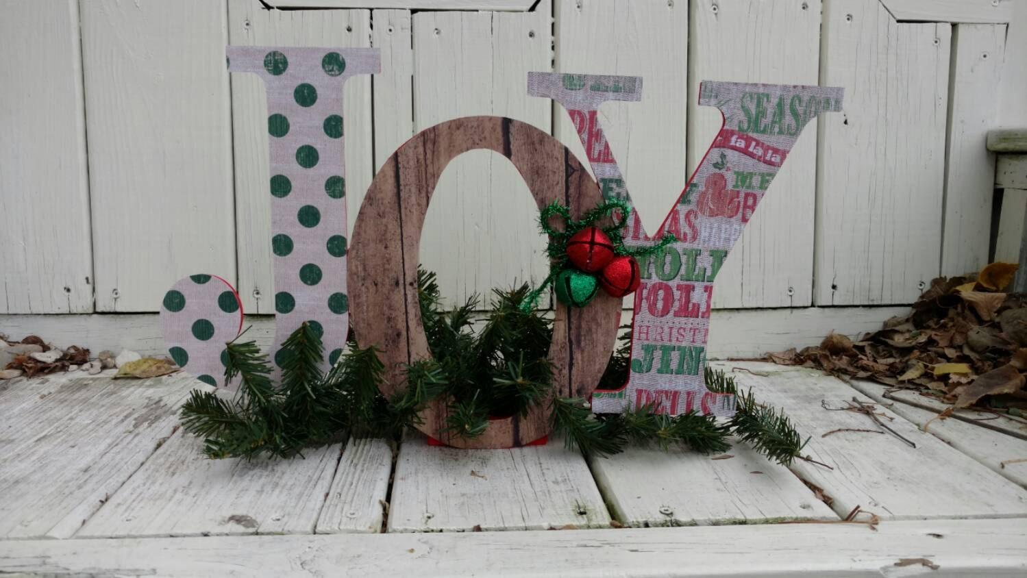 Joy Wood Letters Joy Standalone Decor Holiday By