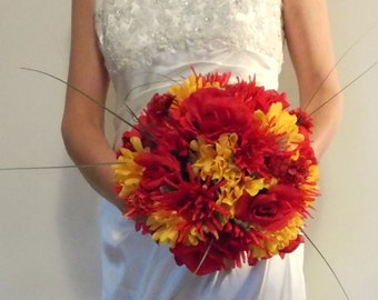 Items similar to elegant tuscan bridal bouquet jewelry for Fall wedding bouquets for sale