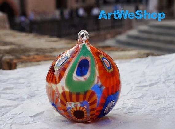 Items similar to christmas tree ornaments italian glass - Murano glass ornaments italy ...