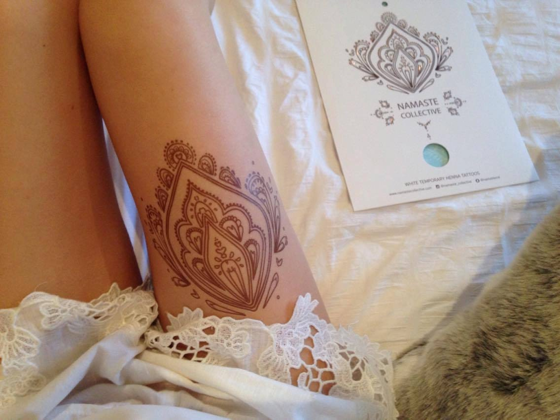 Henna Tattoo Color Brown