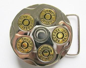 Gun Barrel Spinner Bullet Metal Belt Buckle
