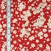 Japanese Cotton Fabric Cherry Blossom Red