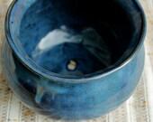 Beautiful Blue Flower Pot-Ceramic Planter-Handmade Flower Pot