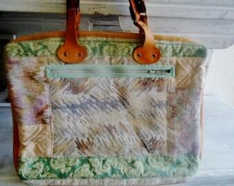 """Large tote bag,Canvasvintage bag,  shoulderbag bag 90's, """"Boho"""" shoulderbag"""