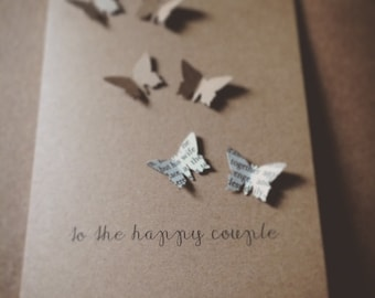 Butterfly Wedding/Engagement Card