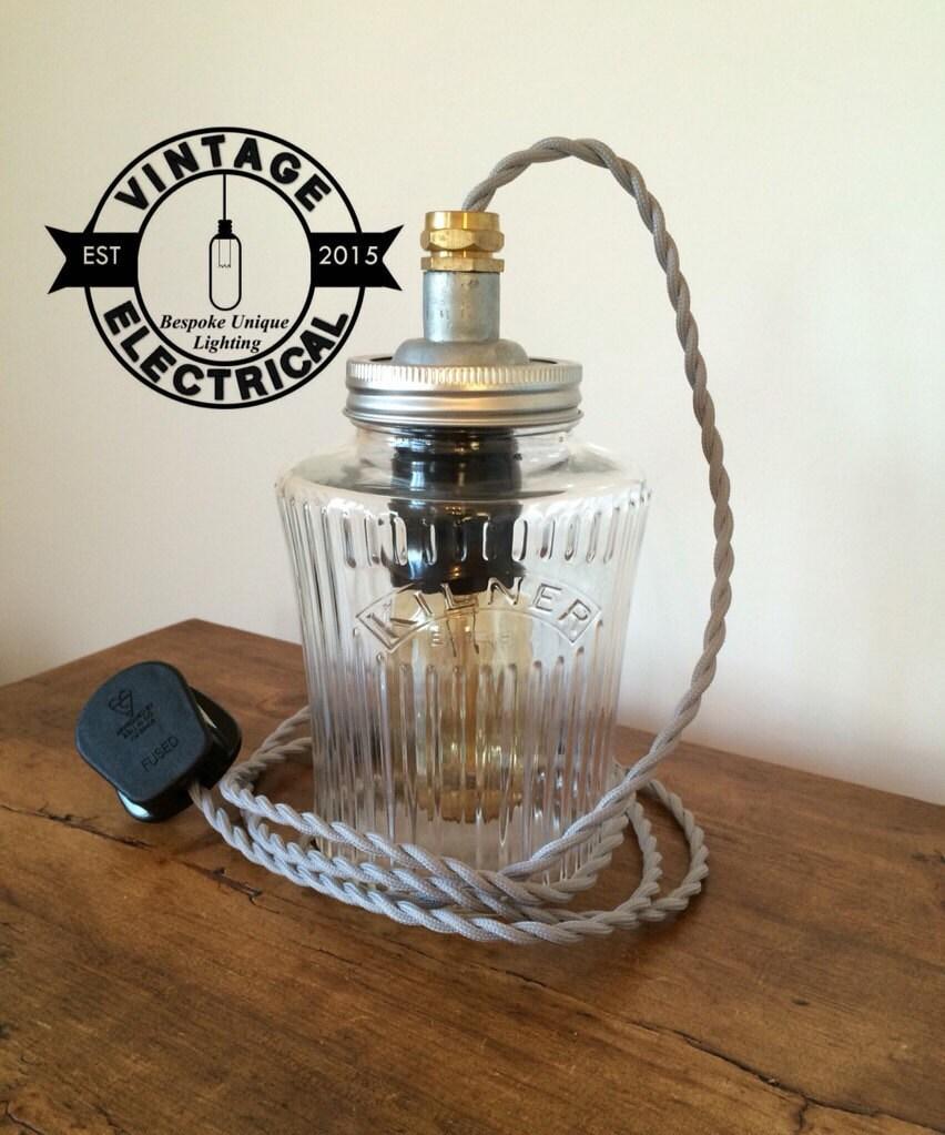 vintage kilner jar lamp table light 1