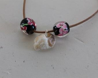 mermaid seashell leather bracelet