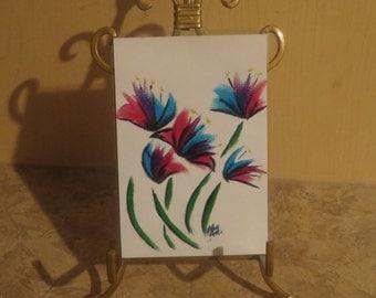 Painted Flowers Print